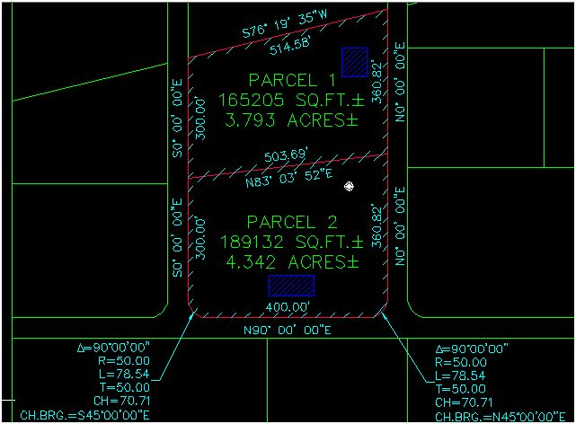 how to create parcel cad civil 3d