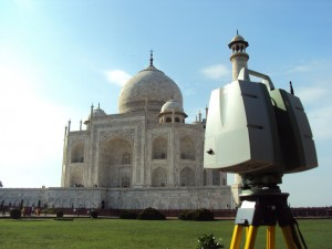 Leica ScanStation C10 at the Taj Mahal in Agra, India.