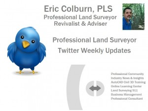Professional Land Surveyor Twitter Updates